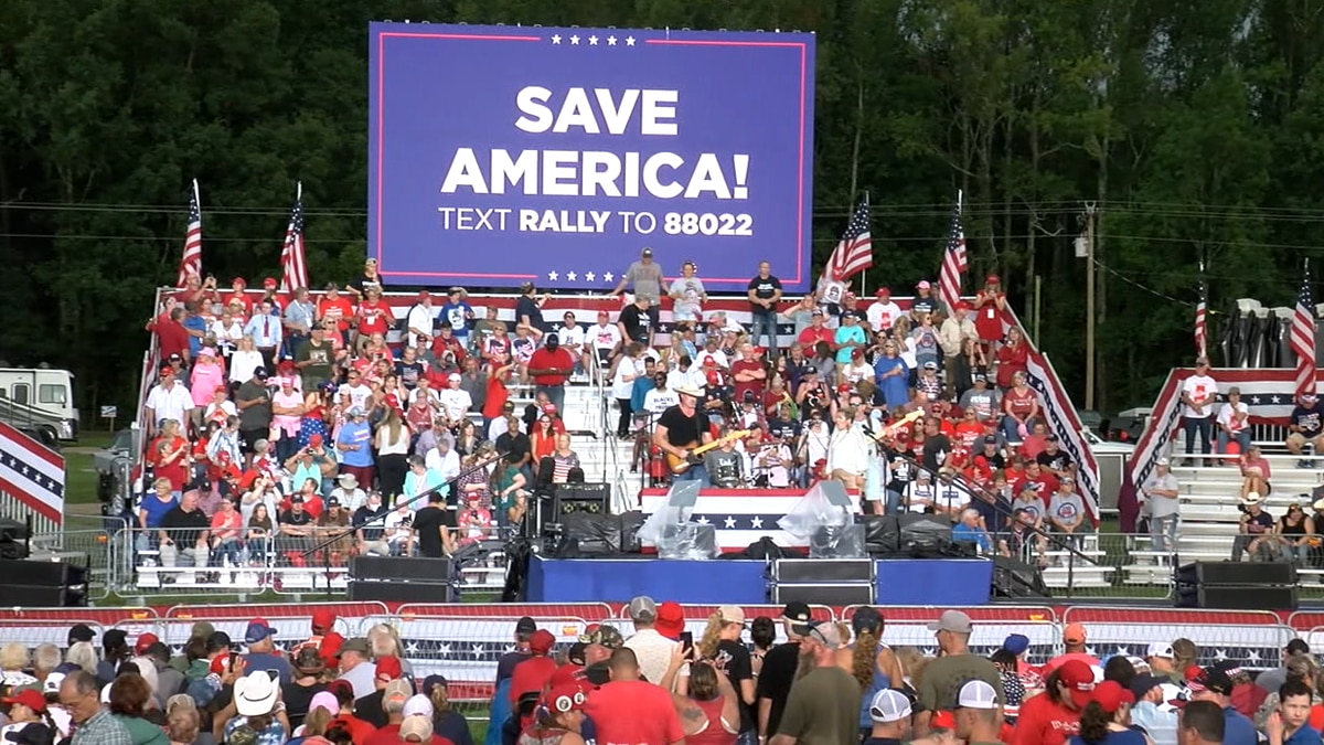 Donald Trump Save America Rally in Cullman, Ala. on August 21, 2021.