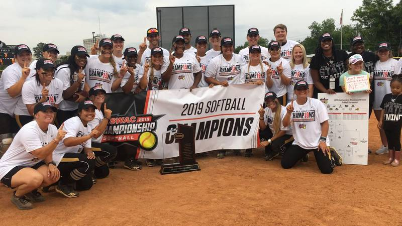 The Alabama State Hornets defeated Texas Southern 8-4 to win the SWAC Softball Championship.