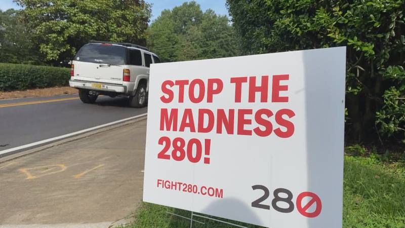 Signs are going up all around town from a group called Fight 280. They're hoping to stop AL-DOT...