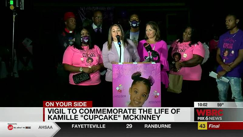 Vigil to commemorate the life of Kamille 'Cupcake' McKinney