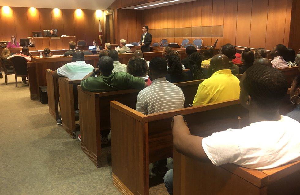 Jefferson county courtroom was packed for Toforest Johnson's evidentiary hearing.