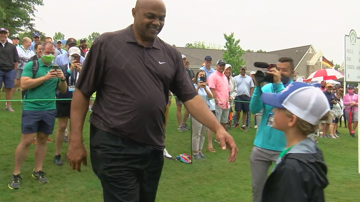 Charles Barkley played in the Regions Tradition Pro Am Wednesday at Greystone Golf and Country...