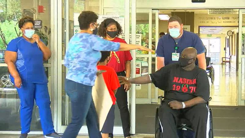 Sgt. Parnell Guyton has spent the last month at Spain Rehabilitation after a nearly two-month...