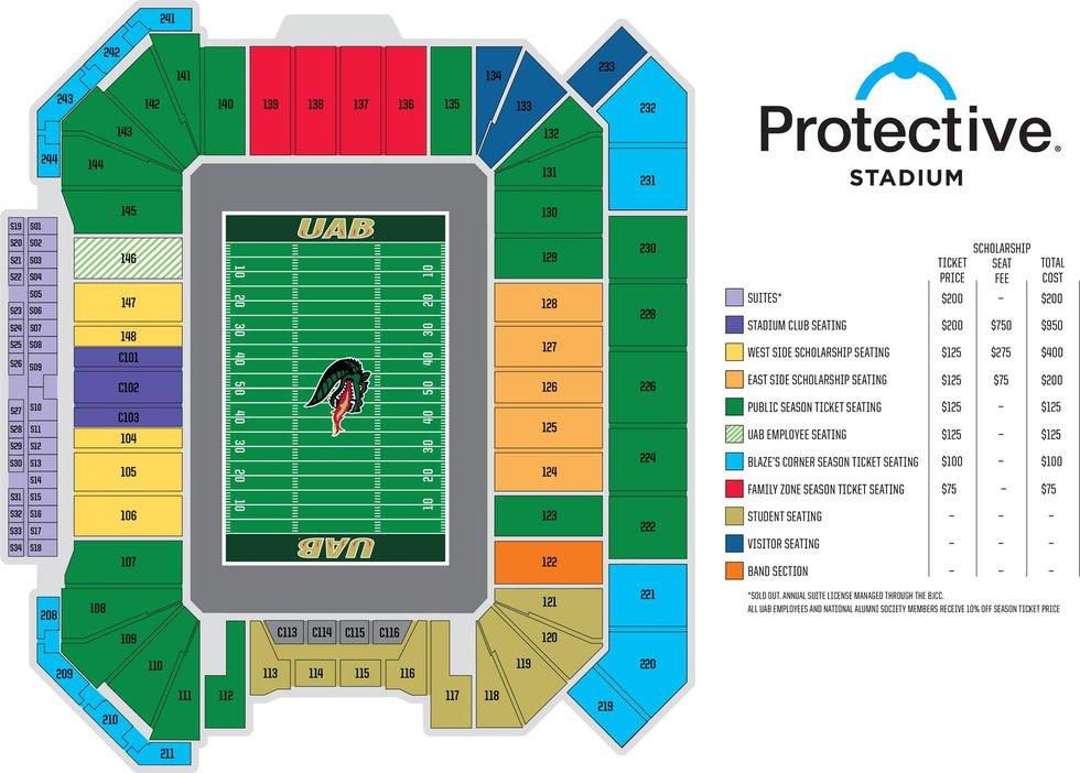 UAB season ticket pricing for 2021 season