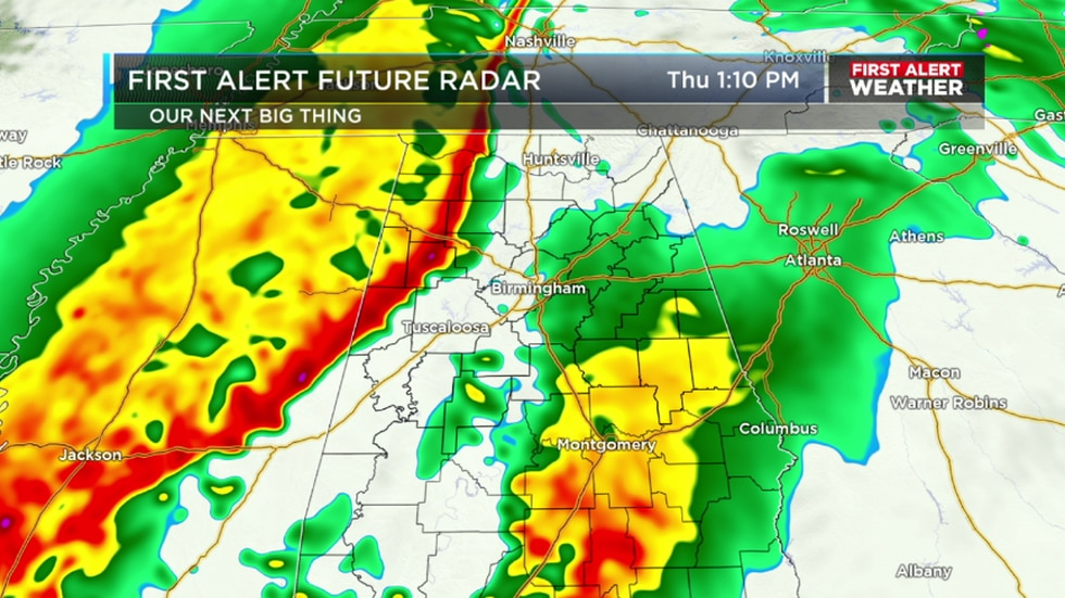 Get ready for rain and a few strong storms Thursday afternoon and evening