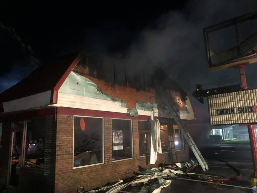 The Dari Delite in Ashland was destroyed by fire Sunday morning.