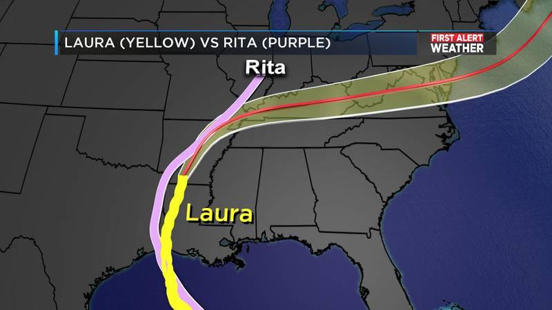 Hurricane Laura and Hurricane Rita
