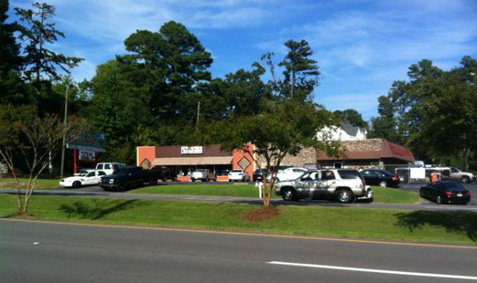 Authorities outside of SWATS Thursday afternoon. Source: Sherea Harris/WBRC