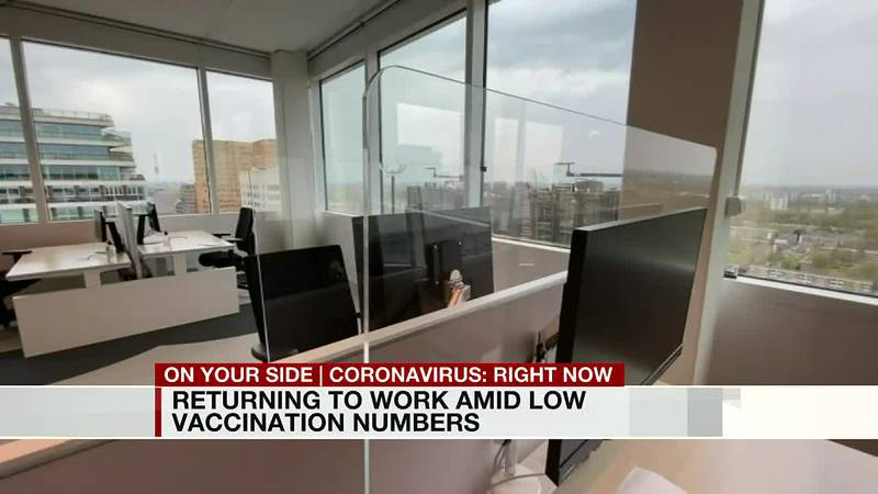Returning to work amid low vaccination numbers