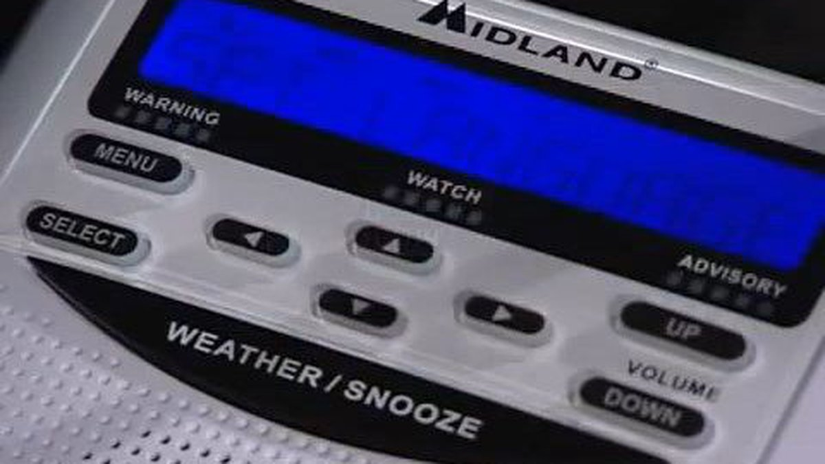 A Midland brand NOAA Weather Radio. Source: Midland