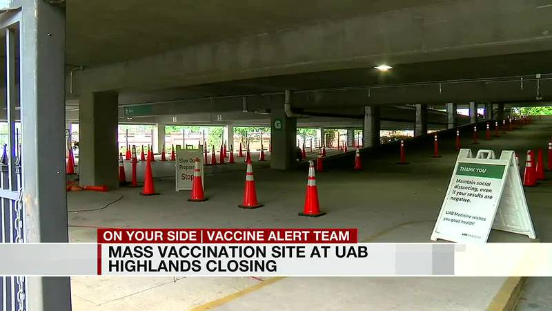 Mass vaccination site at UAB Highlands closing
