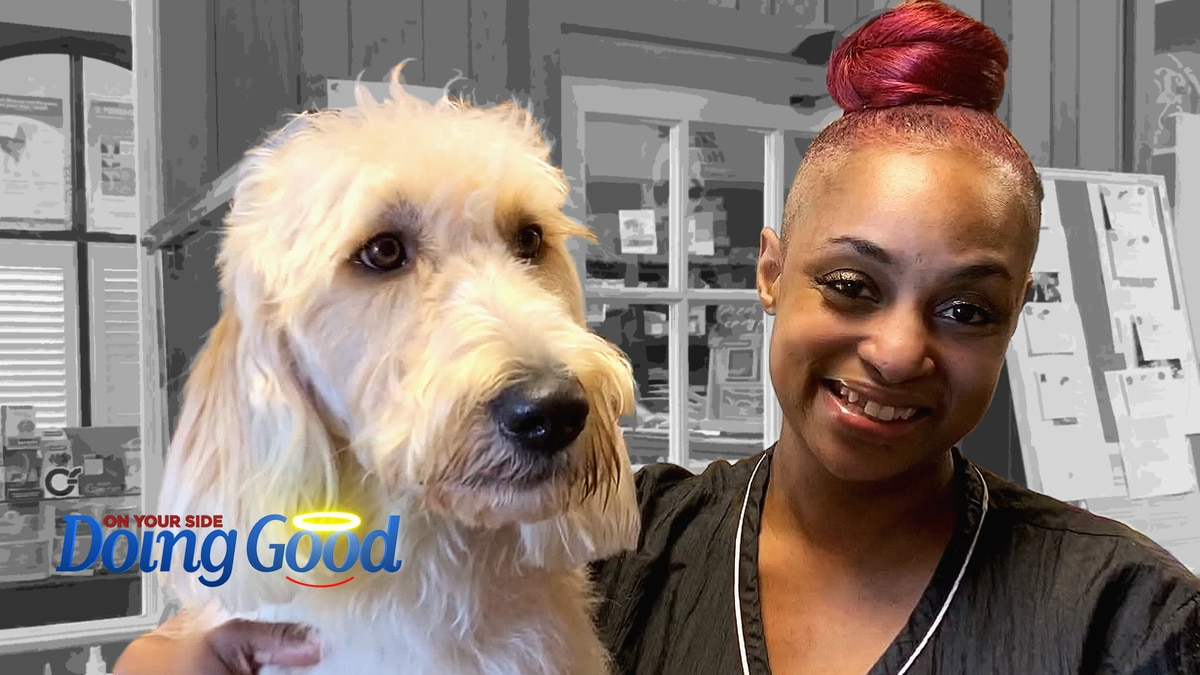 Dog groomer, Sharea Dugger, has been a blessing to Tallulah, the goldendoodle WBRC is...