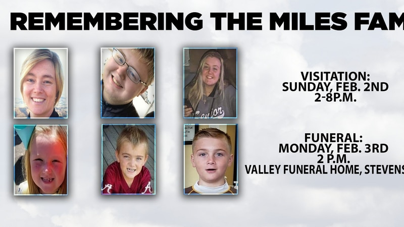 Funeral arrangements for the Miles family