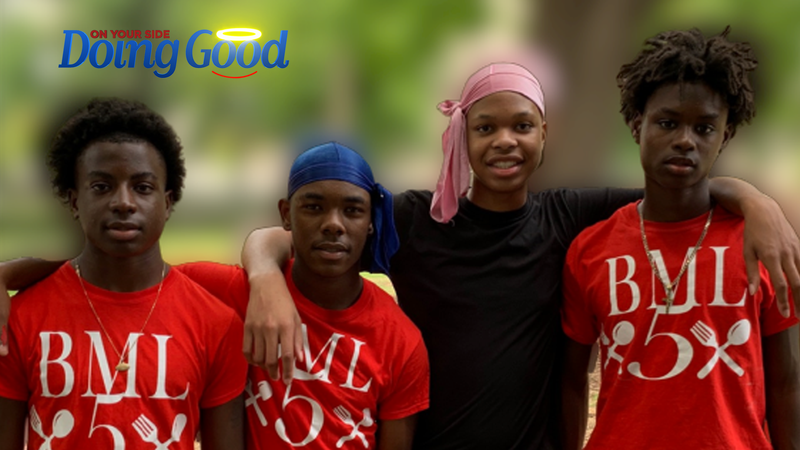 "Teens ""Doing Good"" at Linn Park"