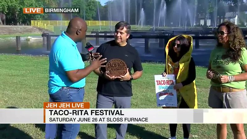 Jeh Jeh joins us live from Sloss Furnaces, the site for this year's Taco Rita Festival.