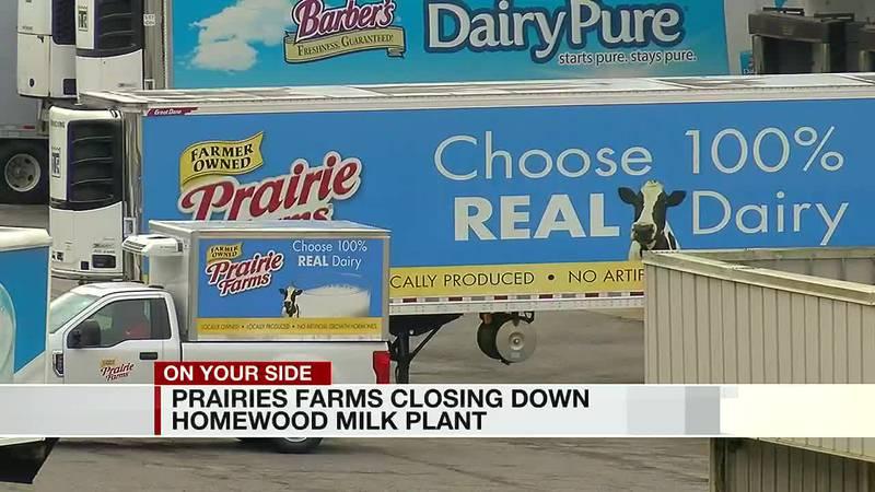 Prairie Farms closing down Homewood milk plant