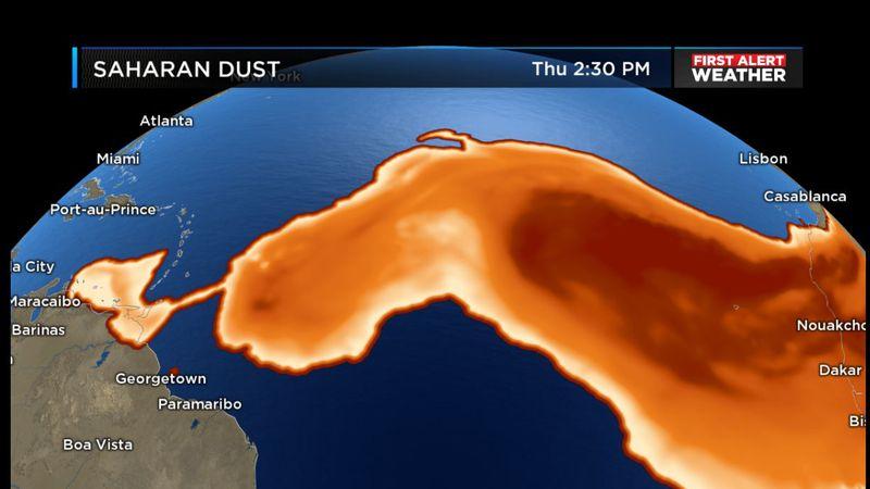 Tracking Saharan Dust