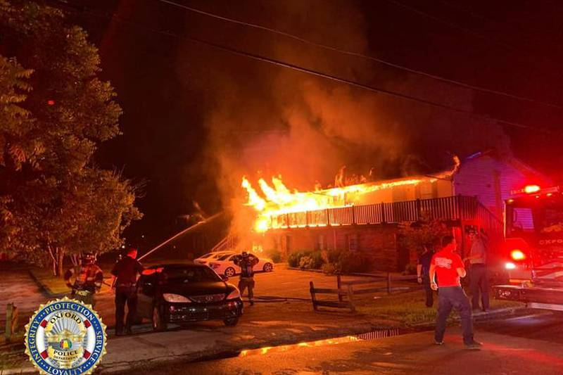 Oxford apartment fire