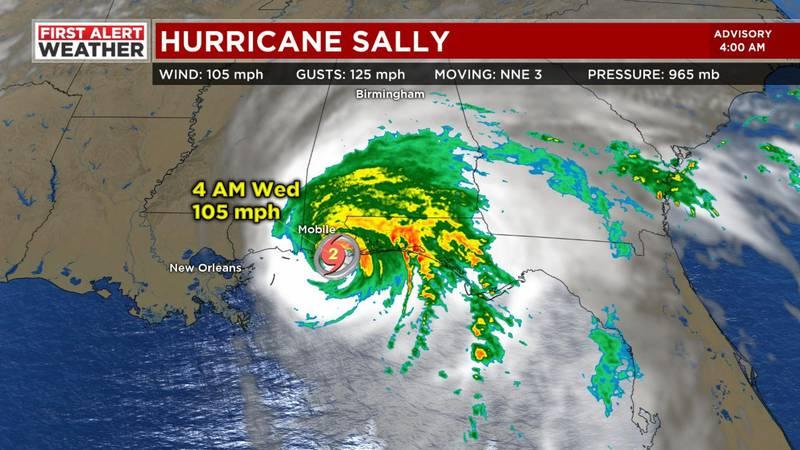 Hurricane Sally made landfall around 5 a.m. Wednesday.