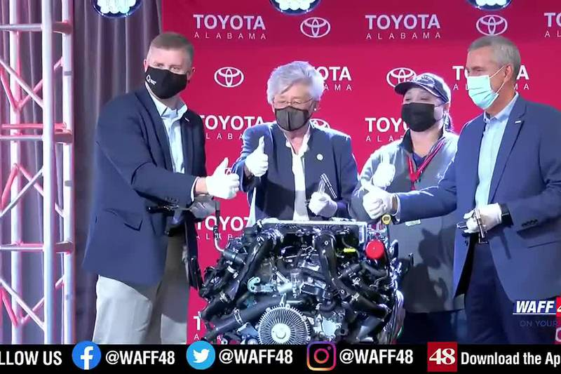 Governor Kay Ivey was in Huntsville at Toyota Motor Manufacturing to unveil the new motor being...