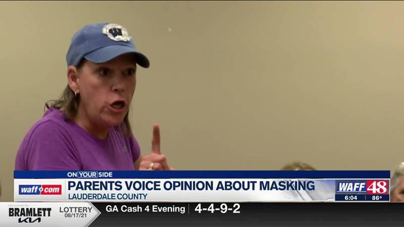 Some Lauderdale County parents gave their opinions on masking in schools at Wednesday's meeting