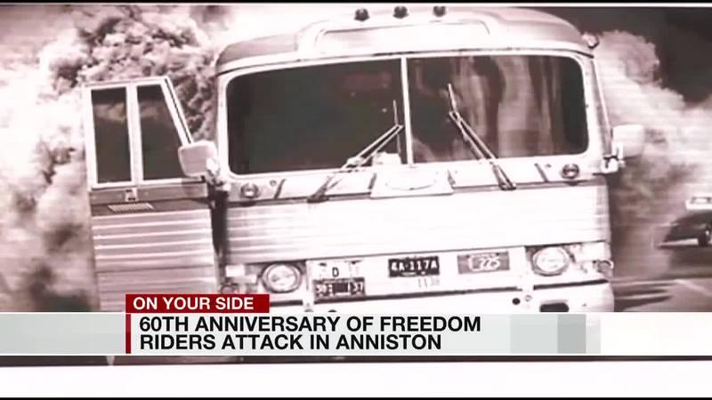 60th anniversary of Freedom Riders attack in Anniston