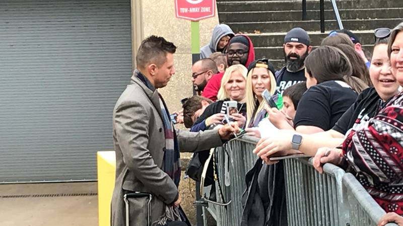 The Miz chats with fans