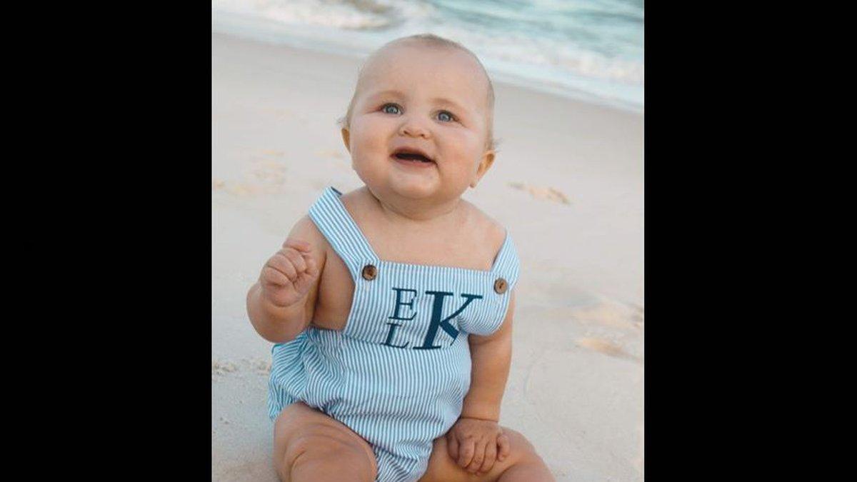 Everett Luke's first beach trip