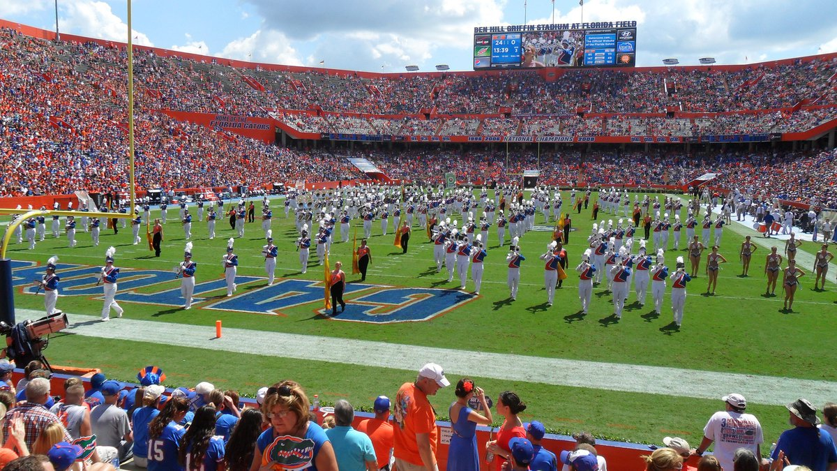 The University of Florida football team plays its home games at Ben Hill Griffin Stadium,...