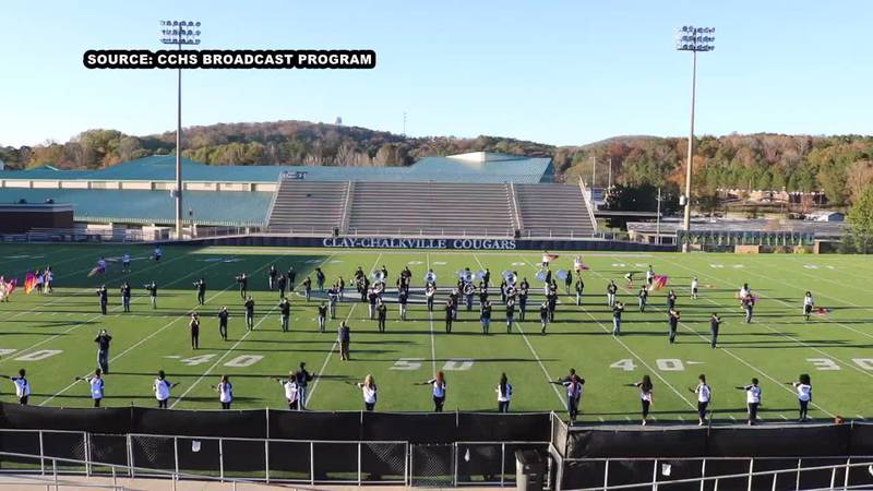 As soon as the first note is played the Clay-Chalkville High School Marching Band has the...