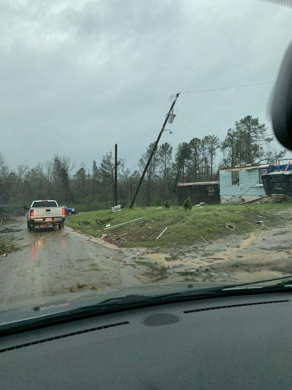 Damage in Wellington