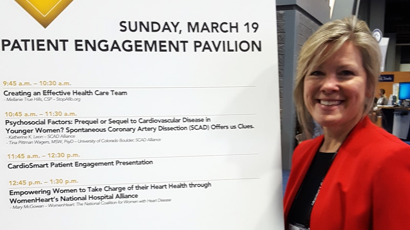 SCAD survivor Katherine Leon at the American College of Cardiology conference in 2017.