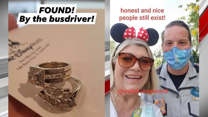 'Honest and nice people still exist': Lost rings returned to WBRC employee at Walt Disney World