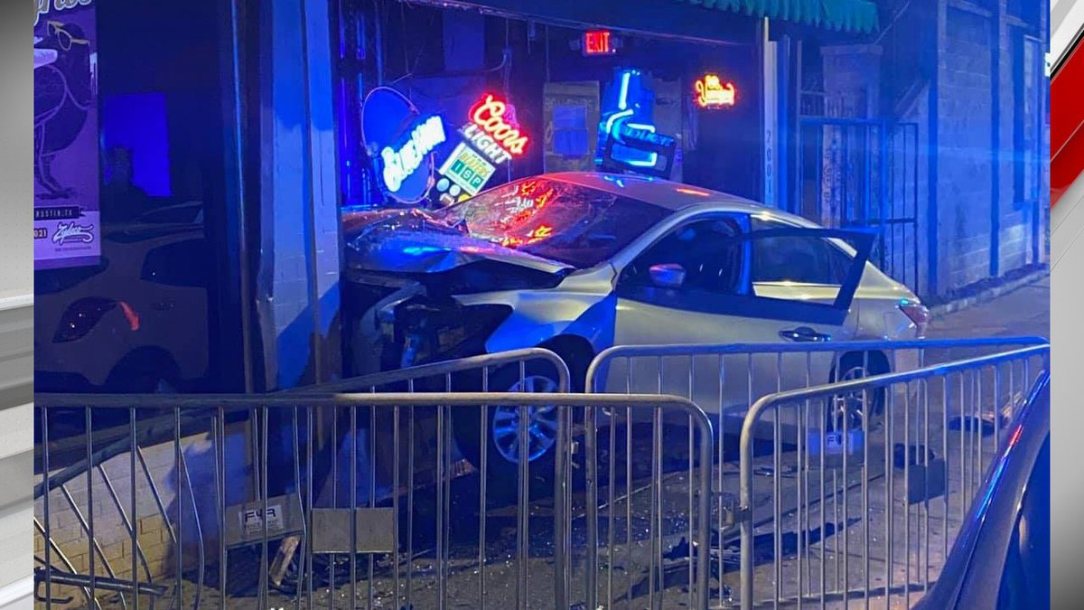 Birmingham Police arrested 2 people after a car crashed into a club on Birmingham South Side...