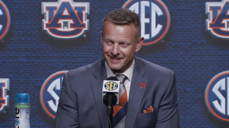 'We love Auburn' - Coach Bryan Harsin answers reporter questions at SEC Media Days