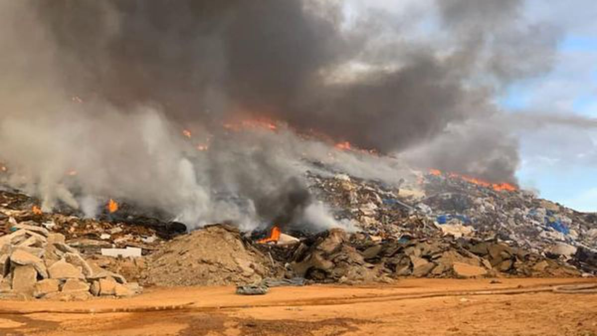 The fire started Saturday at the Cypress Creek landfill.