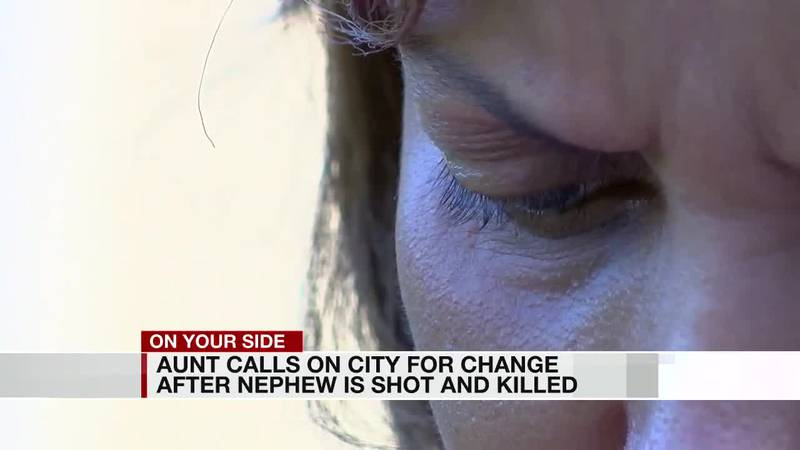 Aunt calls for city to change after nephew is shot