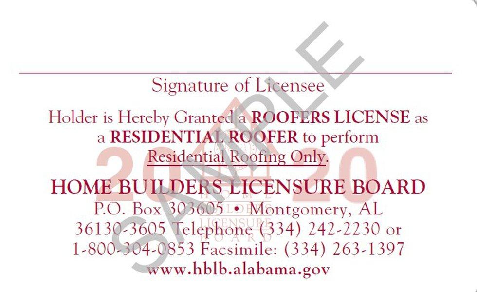 Home Builders Licensure Board