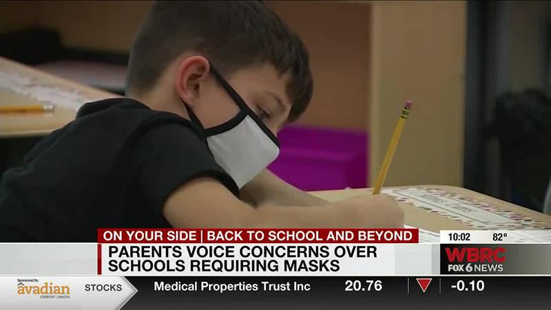 Parents voice concern over masks in school