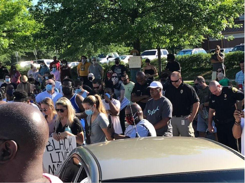 Protest rally and prayer in Tuscaloosa