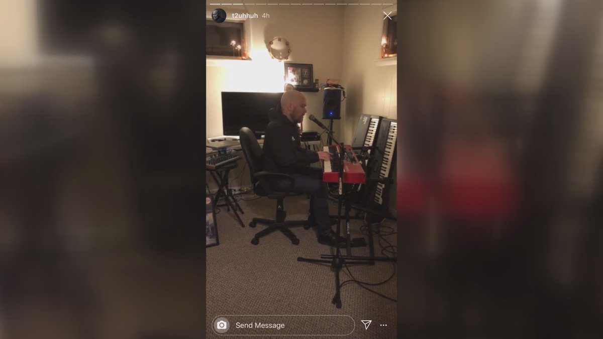 Tim Tucker goes live from his home every Wednesday night on Facebook and Instagram.