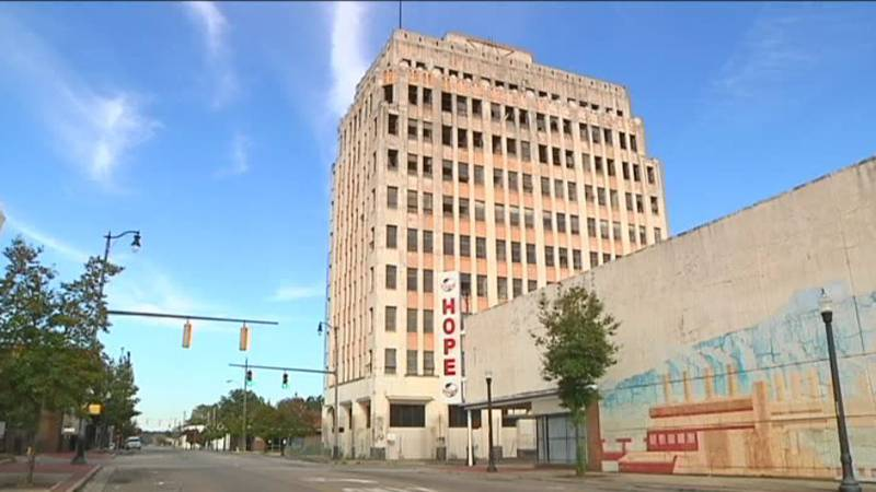 The Ramsay-McCormack Building in Ensley before it was demolished.