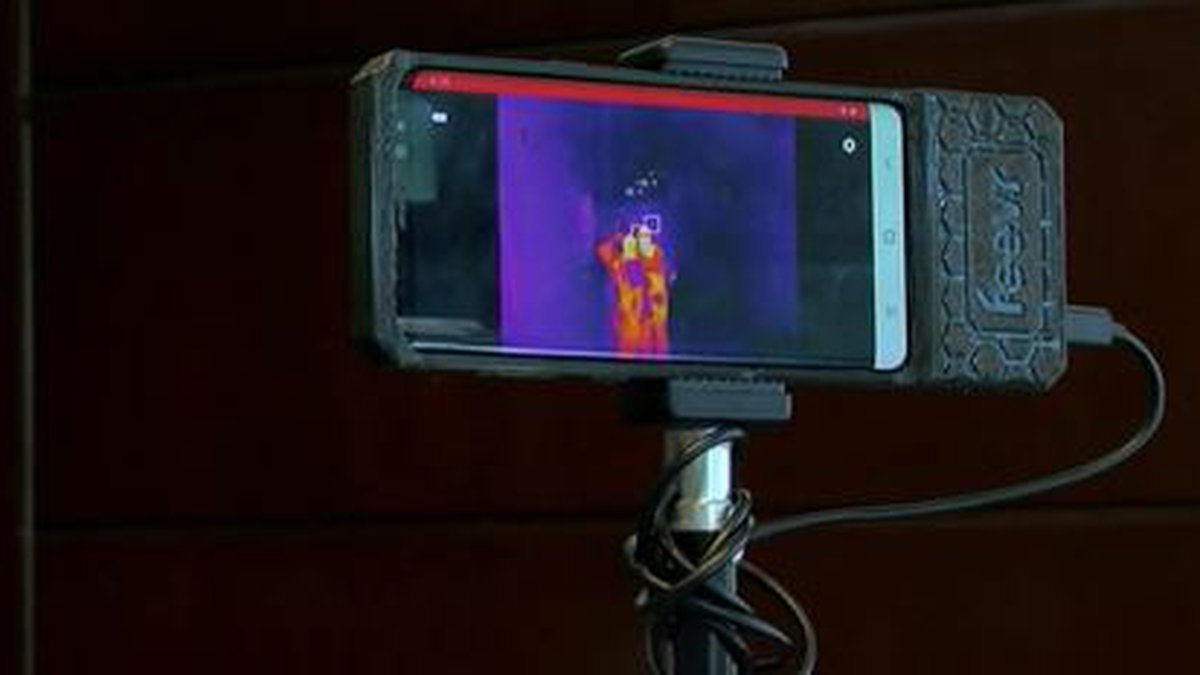 Developers created the Feevr device using artificial intelligence technology and a FLIR thermal...