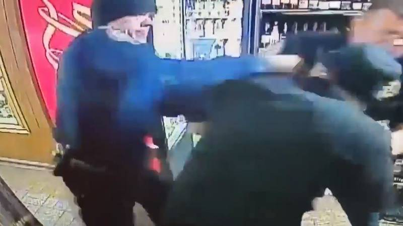 A video shows Decatur police officers at an incident at Star Spirits & Beverages on March 15,...