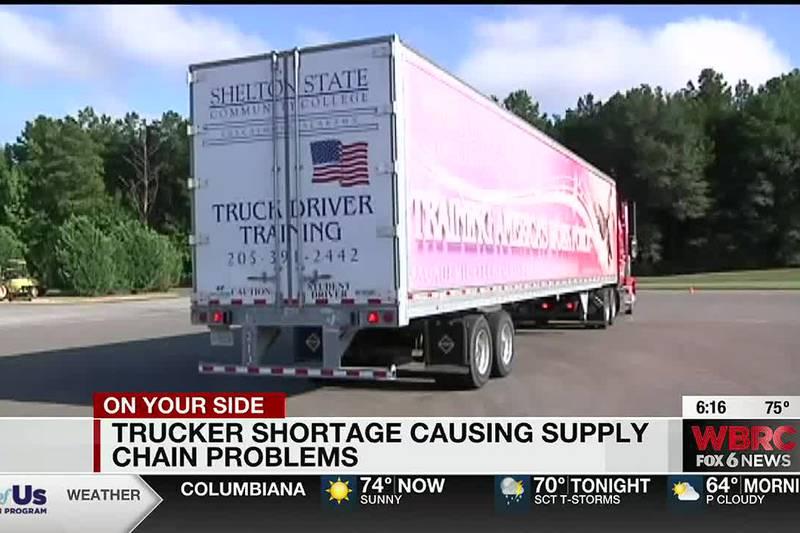 Trucker shortage causing supply chain problems