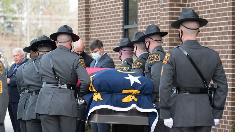 N.C. trooper who died after month-long COVID-19 battle celebrated, laid to rest