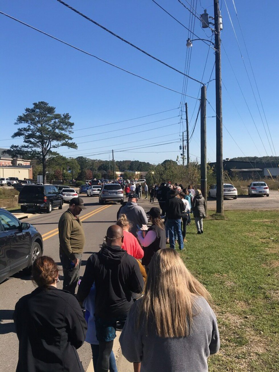 Voting at Trussville City Hall