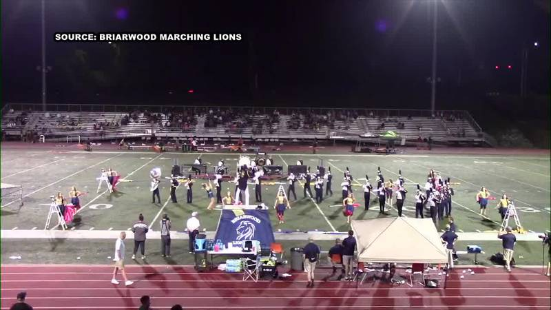 The Briarwood Marching Lions is made up of 44 members.  Now that is not the largest of numbers...