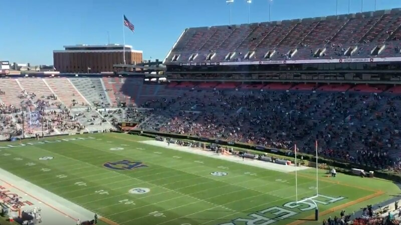 The Auburn Tigers fell to the Texas A&M Aggies in the Tigers' final home game of the season.