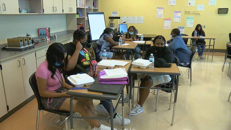 The first day of school at Woodlawn High School got off to a pretty good start.